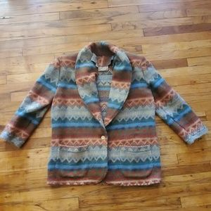 Jackets & Blazers - Southwest Taos festival silk boho blazer large